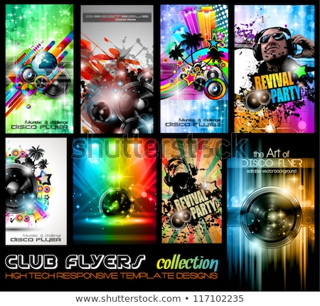 Disco Club Flyer Template Abstract Background Vector Illustration