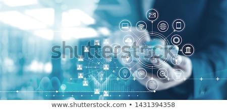 management on dark digital background stock photo © tashatuvango