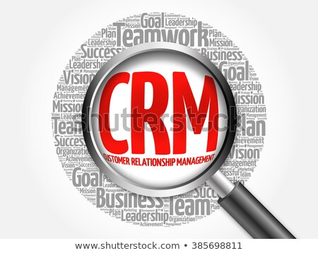 CRM word cloud Stock photo © burakowski