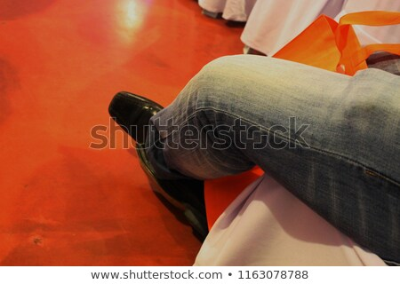 Beige suite on mannequin isolated on white Stock photo © gsermek