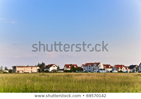Logement banlieue rue Munich herbe bâtiment Photo stock © meinzahn