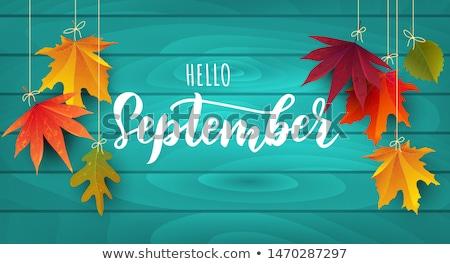 装飾的な フレーム カレンダー ツリー 背景 秋 ストックフォト © itmuryn