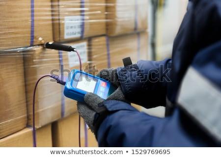 хранения склад большой металлический двери строительство Сток-фото © nelsonart