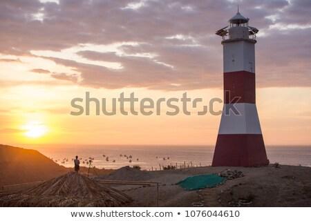 Plaj sörf kasaba Peru kuzey Stok fotoğraf © xura