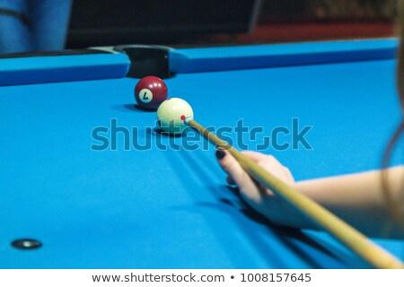 Snooker játékos kész fehér labda sport Stock fotó © bmonteny