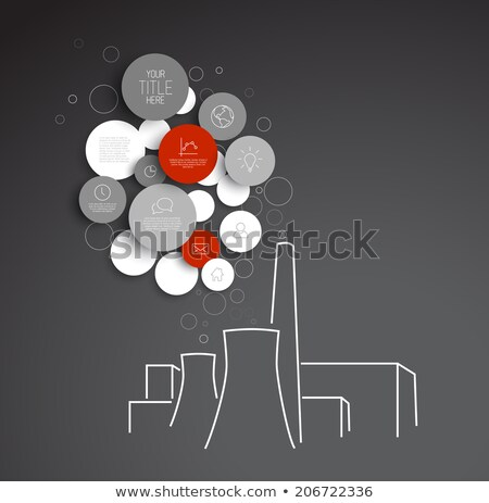 Vector abstract circles pollution infographic template Stock photo © orson