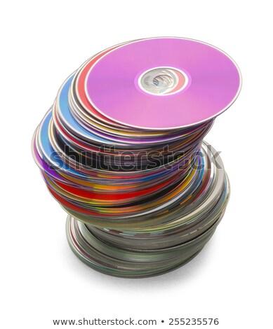 szín · cd · adat · szép · technológia · üzlet - stock fotó © koufax73