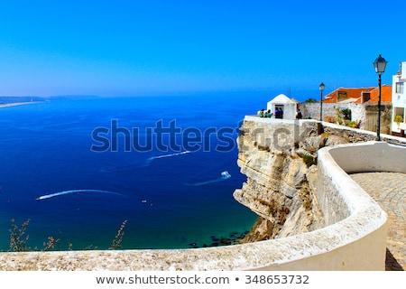 ポルトガル 表示 美しい ビーチ 家 市 ストックフォト © elxeneize