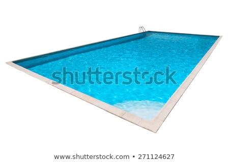 Swimming pool isolated on white Stock photo © Yongkiet