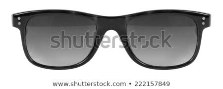 óculos de sol preto quadro cinza cor lente Foto stock © keneaster1