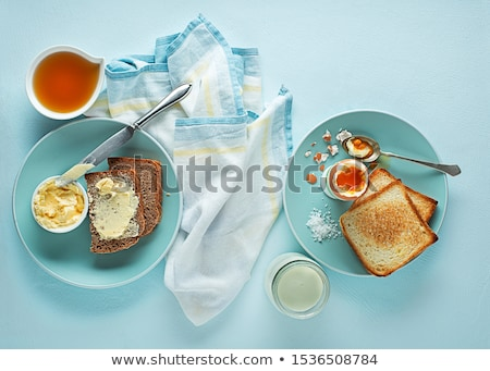 Ekmek tereyağı bal tost doğa Stok fotoğraf © hermestr2010