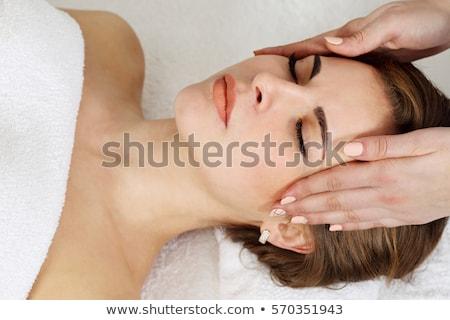 głowie · masażu · medycznych · biuro · kobieta · zdrowia - zdjęcia stock © ambro