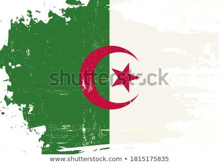 Bayrak büyük çerçeve mesaj parti Afrika Stok fotoğraf © tintin75