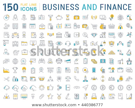 Foto stock: Vetor · financiar · bancário · os · ícones · do · web · ouro