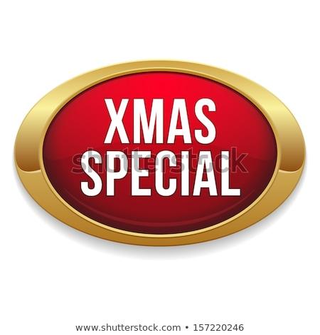 Christmas Deal Gold Vector Icon Button Stock photo © rizwanali3d