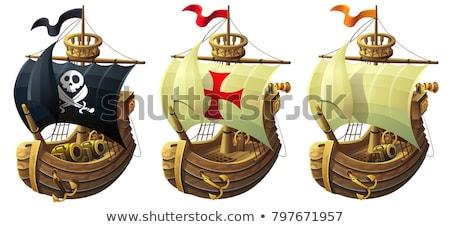 大砲 海 古い 金属 水 自然 ストックフォト © ivonnewierink