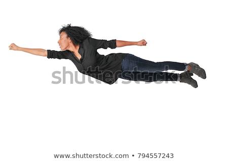 女性 飛行 空 美しい 若い女性 雲 ストックフォト © piedmontphoto
