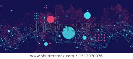 Absztrakt háló kapcsolatok globális hálózat digitális Stock fotó © alexaldo
