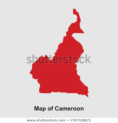 Silhouette carte Cameroun signe blanche Photo stock © mayboro