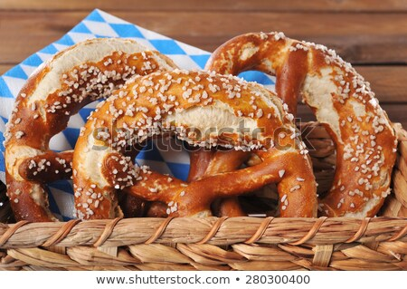 pretzel in front of pretzels in a basket Stock photo © Rob_Stark