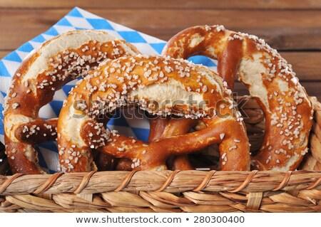 pretzel in front of pretzels in a basket stock photo © rob_stark