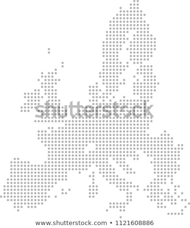 Map of Kingdom of Spain with with Dot Pattern Stock photo © Istanbul2009