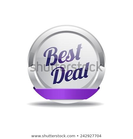Beste prijs paars vector knop business Stockfoto © rizwanali3d