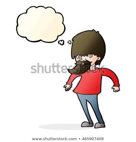 pensamento · confuso · pensar · comunicar - foto stock © lineartestpilot