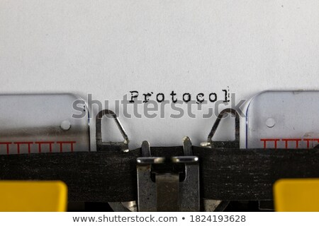 old typewriter with text like stock photo © jarin13