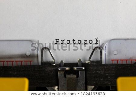 Oude schrijfmachine tekst zoals shot Stockfoto © jarin13