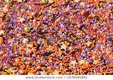 easter background with gold sweet sprinkles stock photo © dariazu
