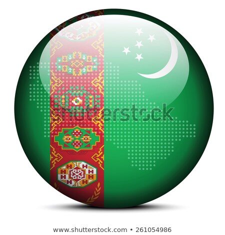 Map with Dot Pattern on flag button of Turkmenistan Stock photo © Istanbul2009