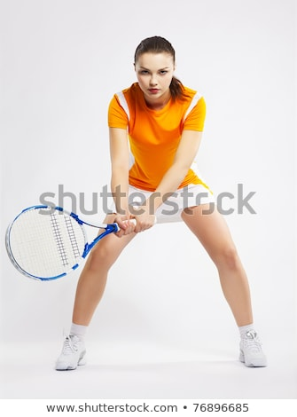 Pretty young girl striking a pose Stock photo © stockyimages