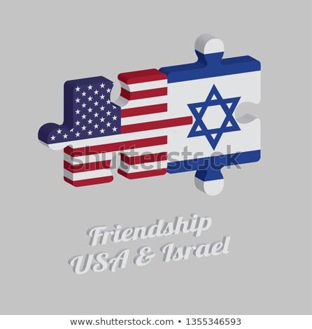 EUA Israel bandeiras quebra-cabeça vetor imagem Foto stock © Istanbul2009