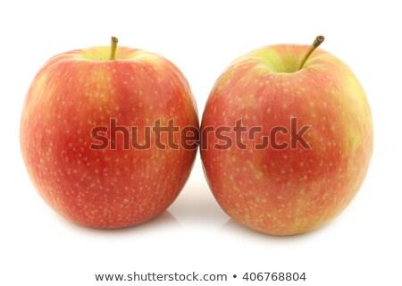 Stok fotoğraf: Iki · küçük · elma · taze · kırmızı · sarı