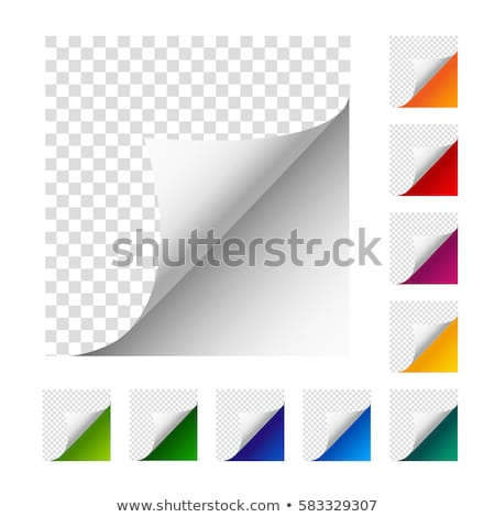 Green sticker with curled up edge. Stock photo © zybr78
