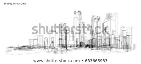 3D · Cityscape · görüntü · şehir · manzara · gökdelen - stok fotoğraf © cherezoff