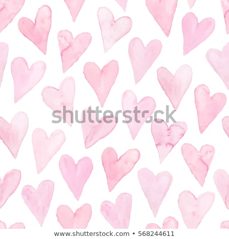 vector seamless pattern with watercolor hearts stock photo © alexmakarova