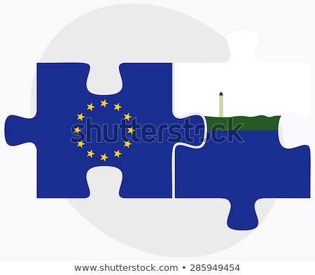 Europeo Unión isla banderas rompecabezas aislado Foto stock © Istanbul2009