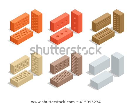 Stock photo: Construction Tools Square Vector Red Icon Design Set