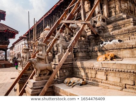 Damaged stupa in kathmandu Stock photo © dutourdumonde
