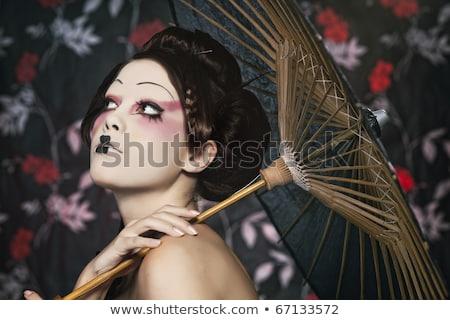 традиционный · декоративный · Японский · зонтик · искусства · Азии - Сток-фото © elisanth