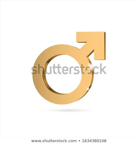 男性 ジェンダー シンボル 青 アイコン デザイン ストックフォト © blaskorizov