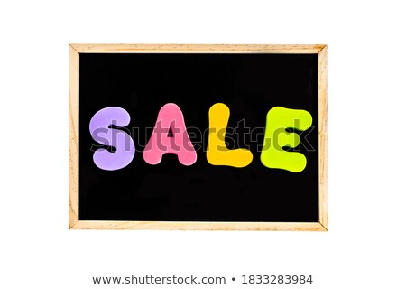Discount word on isolated letters board Stock photo © fuzzbones0