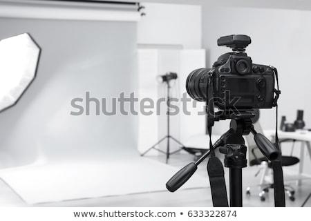 souriant · photographe · caméra · asian · homme - photo stock © rastudio