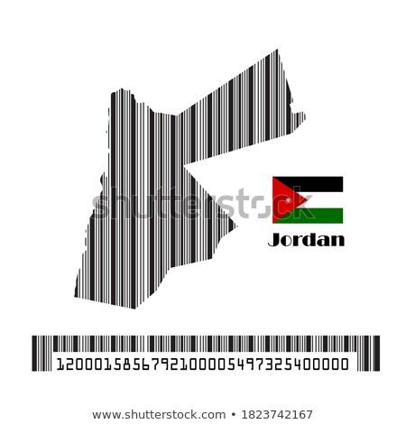 Jordanië land vlag kaart vorm tekst Stockfoto © tony4urban