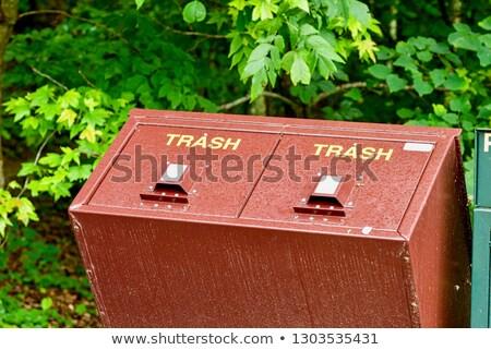 мусорное ведро Медведи иллюстрация горные цепь смешные Сток-фото © adrenalina