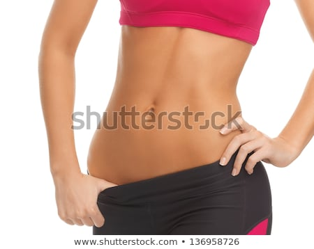 strong bodybuilder training stomach muscles in gym Stock photo © Paha_L