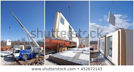 White Wooden prefabricated house Stock photo © smuki