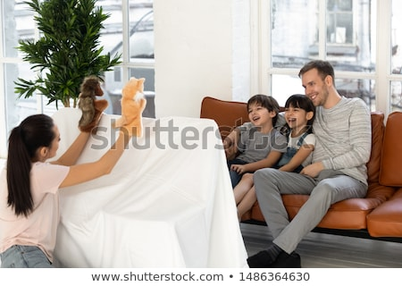 child with puppet Stock photo © Paha_L